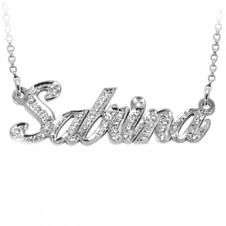 Le Scritte - Collana con strass Infinito Amore in oro o argento.