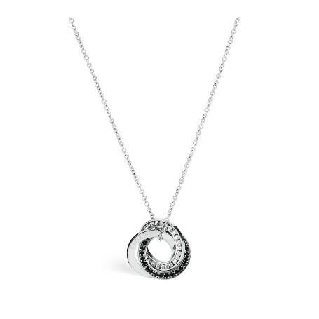 S'Agapo' - Collana collezione Trinidad in acciaio 316L e cristalli.