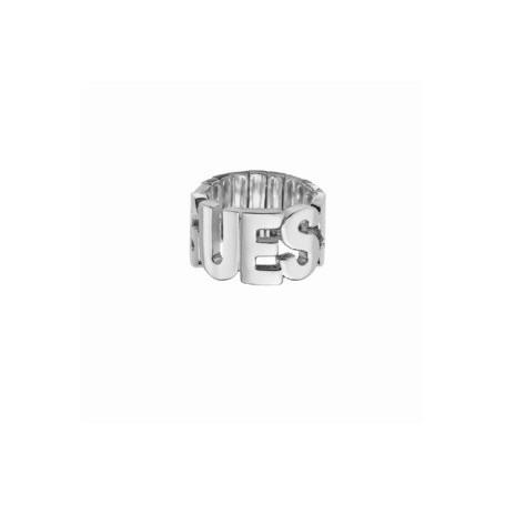 Guess - Anello silver con scritta Guess. UBR91303