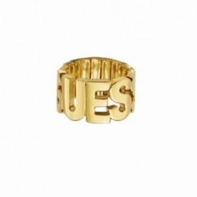 Guess - Anello silver con scritta Guess. UBR91304