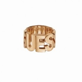 Guess - Anello rose golde con scritta Guess. UBR91305