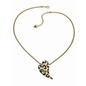 Guess - Collana gold con smalti neri effetto animalier e cristalli. UBN70201