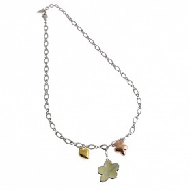 Guess - Collana silver con tre charms. UBN21217