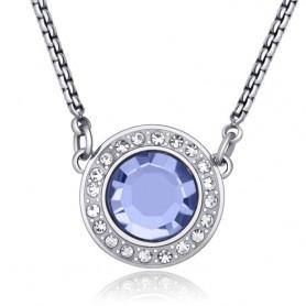 S'Agapò - Luna, collana acciaio 316L con cristalli. SLU01