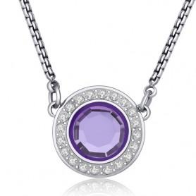 S'Agapò - Luna, collana acciaio 316L con cristalli. SLU02