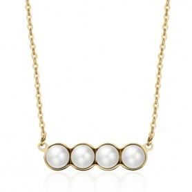 S'Agapò - Marilyn, collana acciaio 316L con pvd oro e perle. SMY02