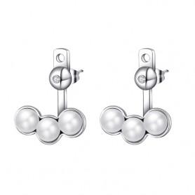 S'Agapò - Marilyn, orecchini acciaio 316L con cristalli e perle. SMY21