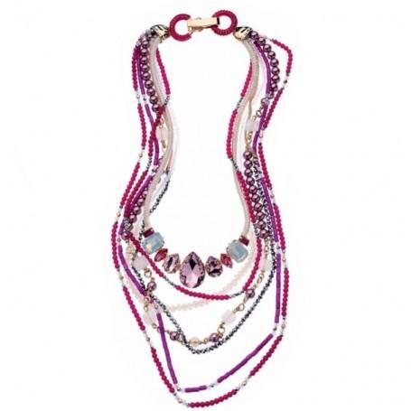 Ottaviani - collana con cristalli, perline e strass.