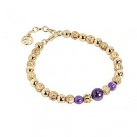 Boccadamo - Bracciale con perle di ametista. XBR561D