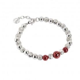 Boccadamo - Bracciale con perle di corniola. XBR563