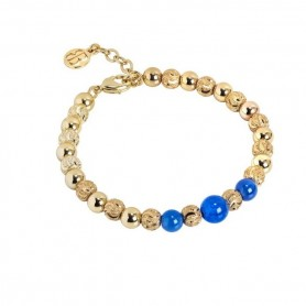 Boccadamo - Bracciale con perle di agata blu. XBR564D