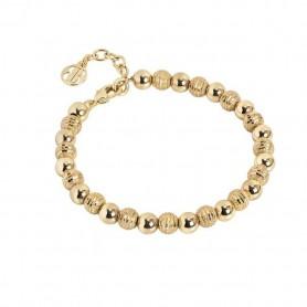 Boccadamo -   Bracciale dorato con sfere lisce e diamantate. XBR566D