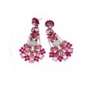 Ottaviani - orecchini con cristalli, perline e strass.