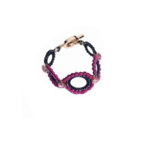 Ottaviani - Bracciale con cristalli, perline e strass.
