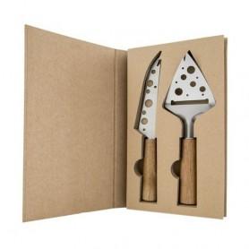 Melograno - Wood set 2 pezzi formaggio coltello-paletta. 1095006