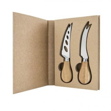Melograno - Wood set 2 pezzi coltelli da formaggio. 1095010