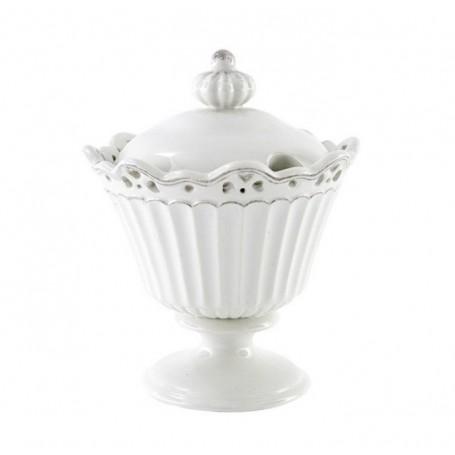 Melograno - Heart zuccheriera porcellana cm 17. 117011