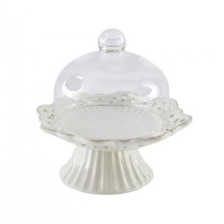 Melograno - Heart piatto torta porcellana c/campana pc. cm 12. 1117012