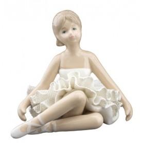 Melograno - Ballerina seduta white cm 9 - 1147033