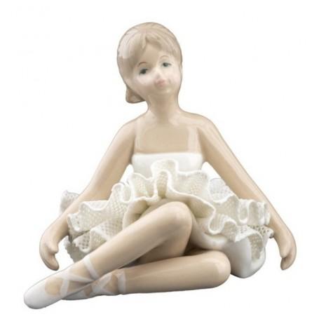 Melograno - Ballerina porcellana seduta white cm 9. 1147053