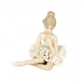 Melograno - Ballerina porcellana seduta bianca cm 9. 1147055