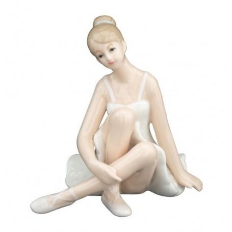 Melograno - Ballerina porcellana gambe incrociate cm 10. 1185052