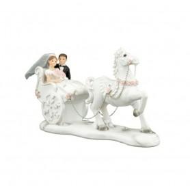 Melograno - Coppia sposi in carrozza cm 20. 1039019