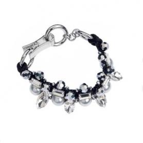 Ottaviani - Bracciale con perle di vetro, cristalli e strass.