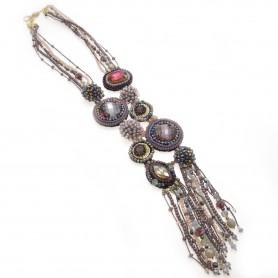 Ottaviani - Collana con perline e cristalli.