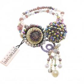 Ottaviani - Bracciale con perline e cristalli.