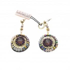 Ottaviani - Orecchini con perline e cristalli.