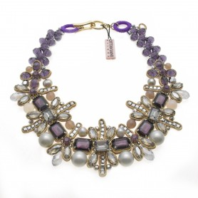 Ottaviani - Collana con perle, quarzi e cristalli.