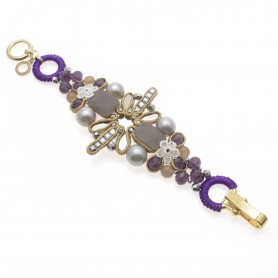 Ottaviani - Bracciale con perle, quarzi e cristalli.