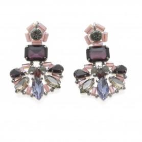 Ottaviani - Orecchini con perle, quarzi e cristalli.