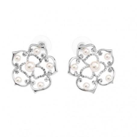Ottaviani - Orecchini con perle di vetro. 500304O