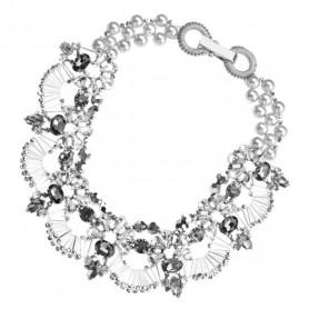 Ottaviani - Collana con cristalli, perline, perle e strass. 500266C