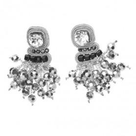Ottaviani - Orecchini con cristalli e perline. 500218O