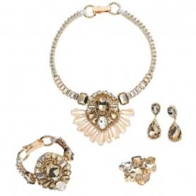 Ottaviani - Collana con cristalli e perline. 500233C