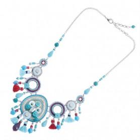 Ottaviani - Collana con cristalli, resina, perline e strass. 500283C