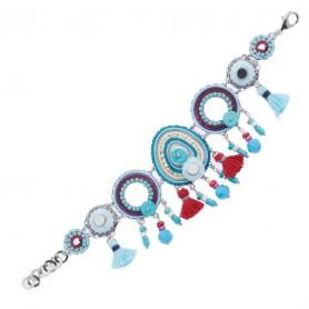 Ottaviani - Bracciale con cristalli, resina, perline e strass. 500283B