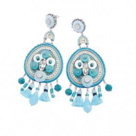 Ottaviani - Orecchini con cristalli, resina, perline e strass. 500279O