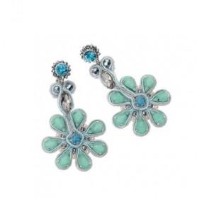 Ottaviani - Orecchini con cristalli, strass e perline.