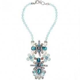 Ottaviani - Collana con cristalli, strass e perline.