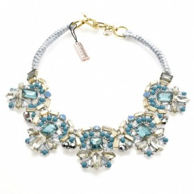 Ottaviani - Collana con cristalli, perline e quarzi.