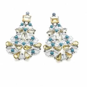 Ottaviani - Orecchini con cristalli, perline e quarzi.