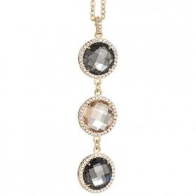 Boccadamo -  Collana con pendente in cristallo champagne, smoky quartz e zirconi