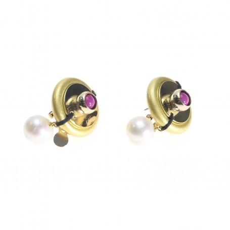 Ottaviani - Orecchini con perle e perline. 500434O
