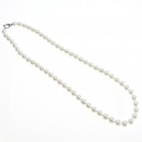 Arteregalo - Collana perle 10 mm lunghezza cm  60 con chiusura argento 925.