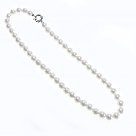 Arteregalo - Collana perle 10 mm lunghezza cm 45 con chiusura argento 925.