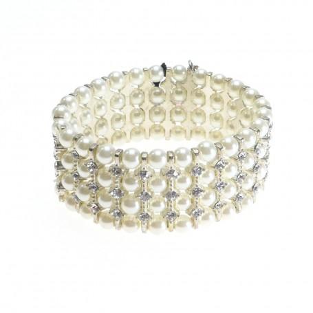 Ottaviani - Bracciale con perle e strass. 47165